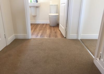 Light Brown Twist Pile Carpet